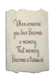 Manual Woodworkers and Weavers Memory Sign - Product Mini Image