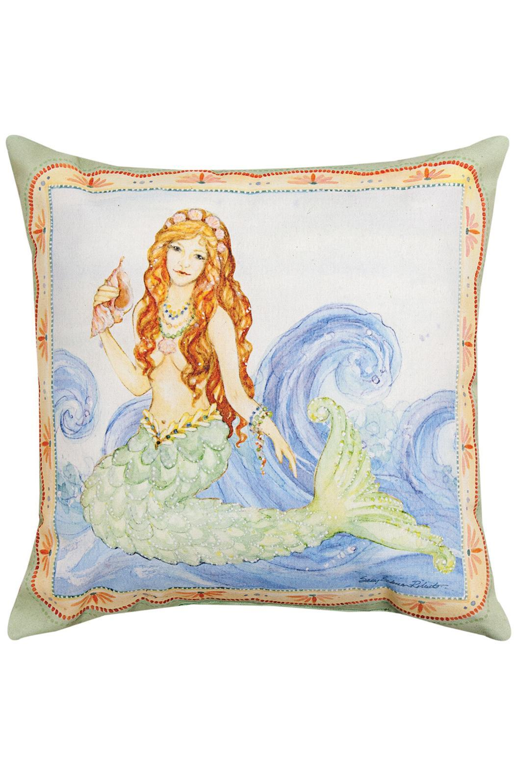 Manual Woodworkers And Weavers Mermaid Pillow From Jensen Beach