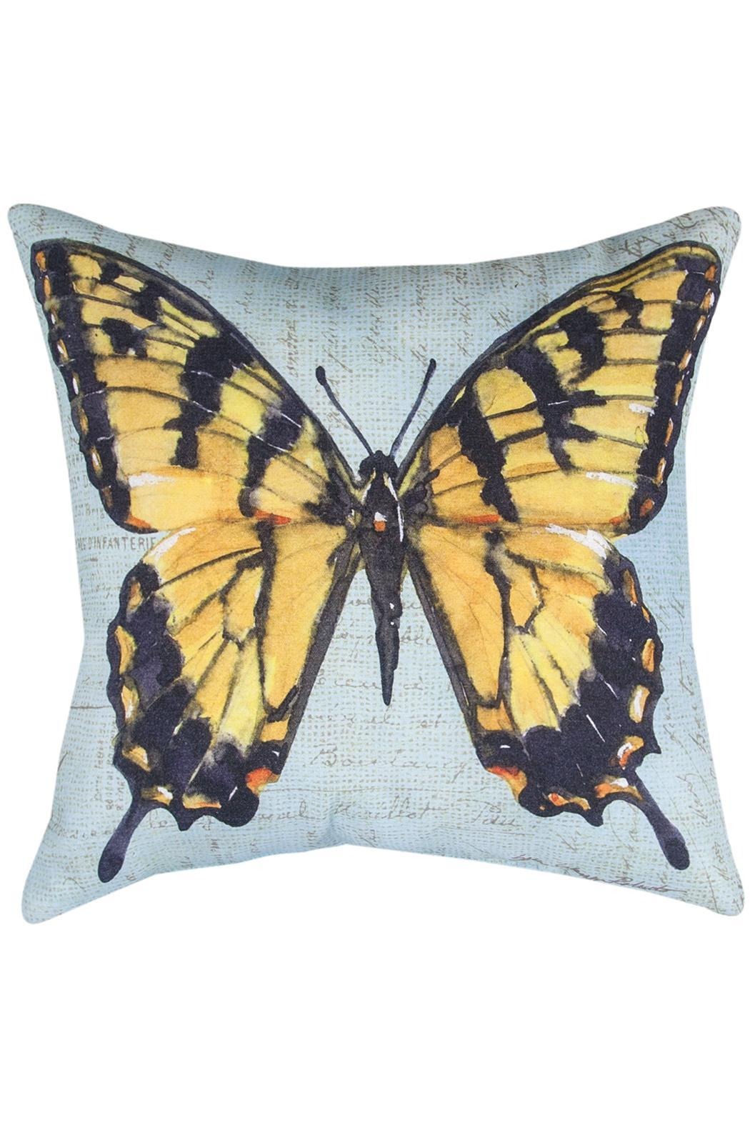 Manual Woodworkers and Weavers Monarch Butterfly Pillow - Main Image