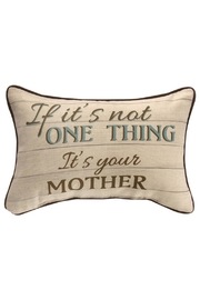 Manual Woodworkers and Weavers Mother Pillow - Product Mini Image