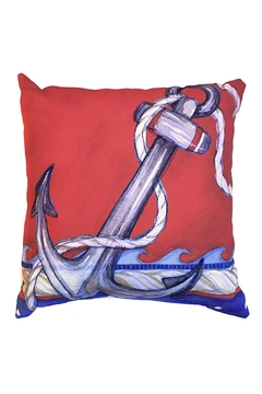 Manual Woodworkers and Weavers Nautical Anchor Pillow - Alternate List Image