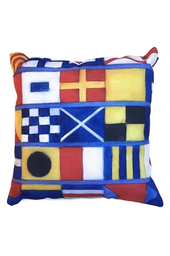 Manual Woodworkers and Weavers Nautical Flags Pillow - Alternate List Image