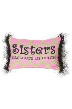 Manual Woodworkers and Weavers Sisters Pillow - Alternate List Image