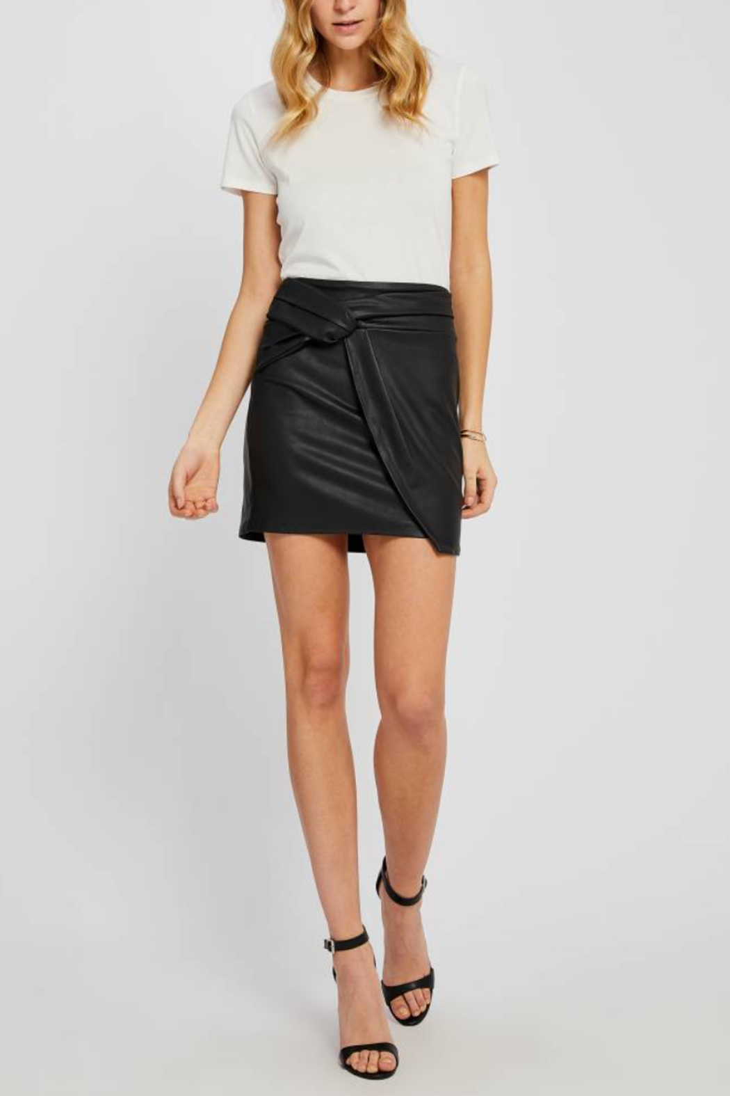Gentle Fawn Maquinna Faux Leather Skirt - Front Cropped Image