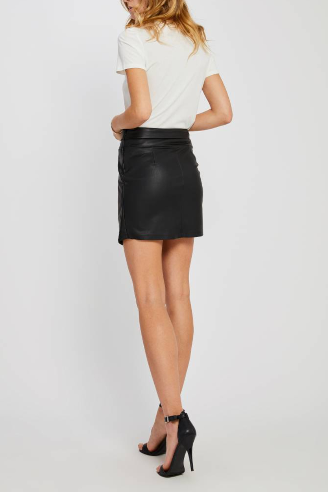 Gentle Fawn Maquinna Faux Leather Skirt - Front Full Image