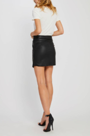 Gentle Fawn Maquinna Faux Leather Skirt - Front full body