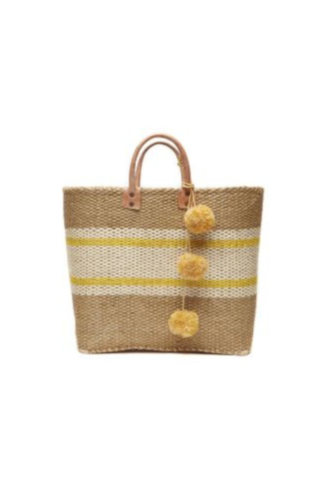 Mar Y Sol Cyprus Striped Tote - Front Cropped Image