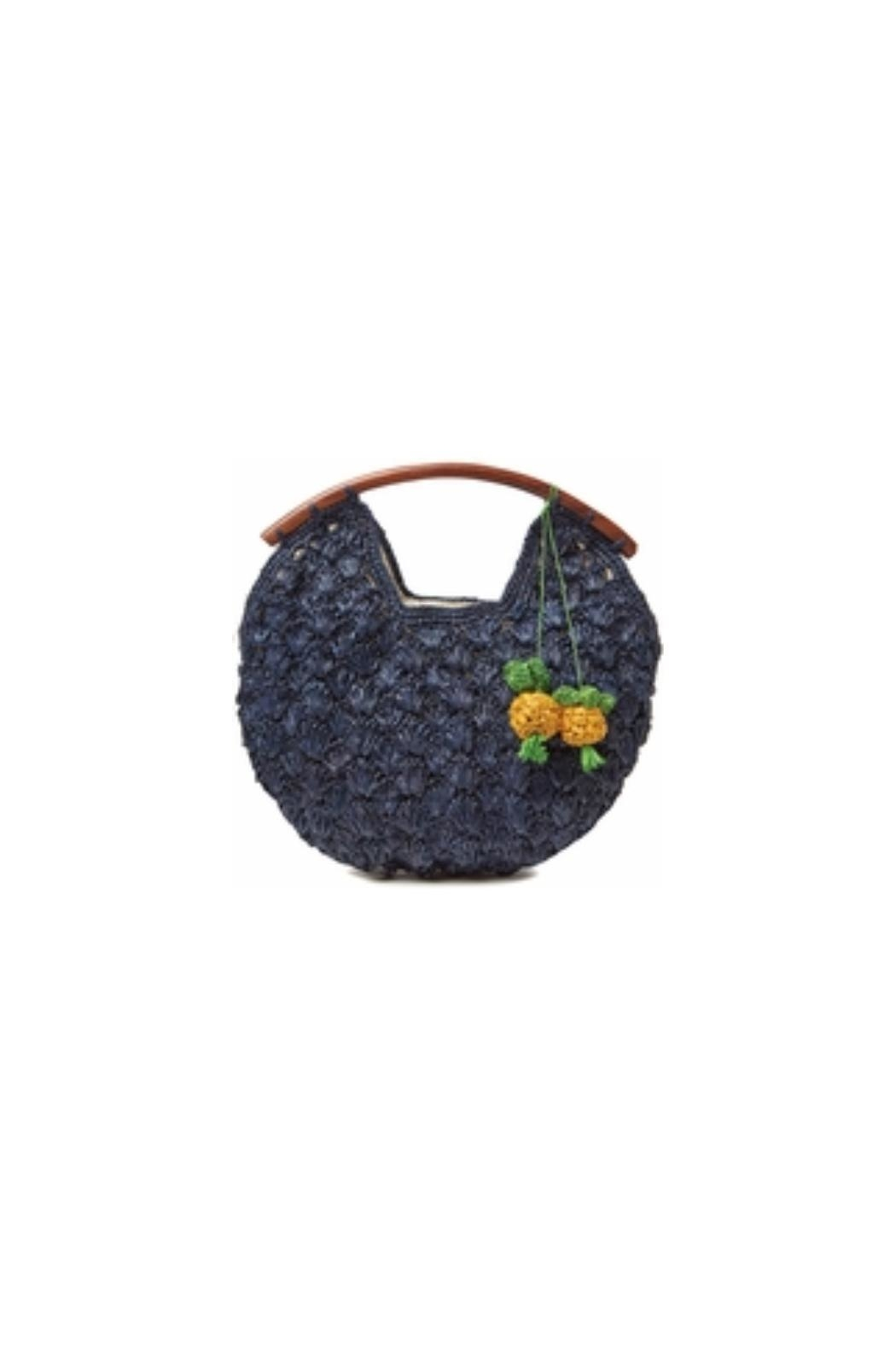 Mar Y Sol Isla Pineapple Clutch - Front Cropped Image