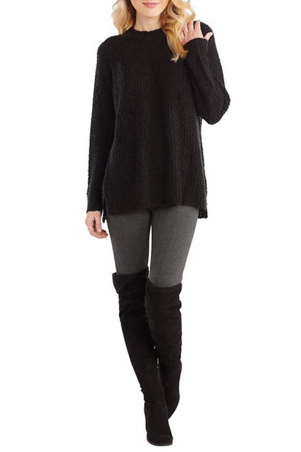 Mud Pie Mara Black Sweater - Main Image