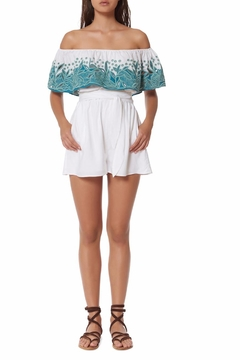 Shoptiques Product: Embroidered Romper