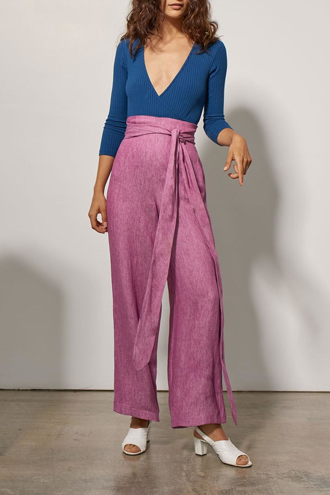 Mara Hoffman Evelyn Linen Pants - Front Cropped Image