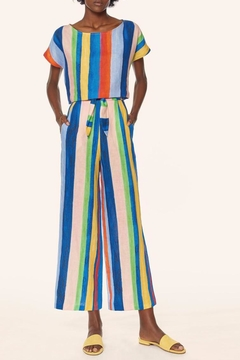 Shoptiques Product: High Waisted Rainbow Pants