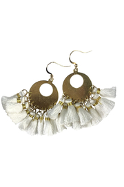 Fabulina Designs Maran Tassel Chandelier Earrings - Product Mini Image
