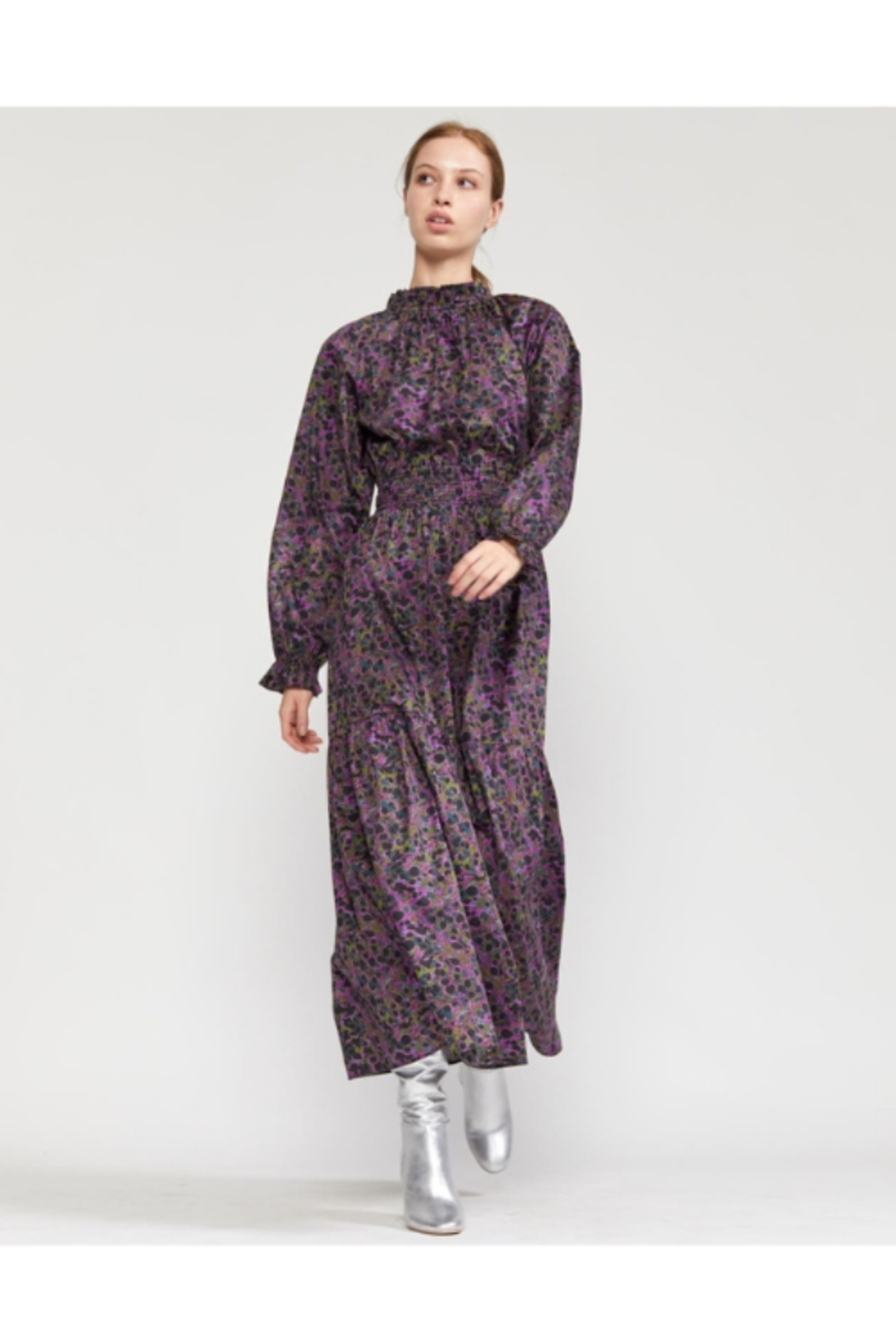 Cynthia Rowley Marbelle Smocked Waist Printed Cotton Dress - Main Image