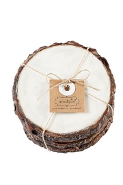 Mud Pie  Marble/Bark Coasters - Product Mini Image