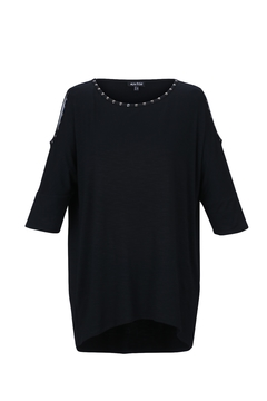 Shoptiques Product: Black Cold-Shoulder Tunic