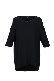 Marble Black Cold-Shoulder Tunic - Product Mini Image