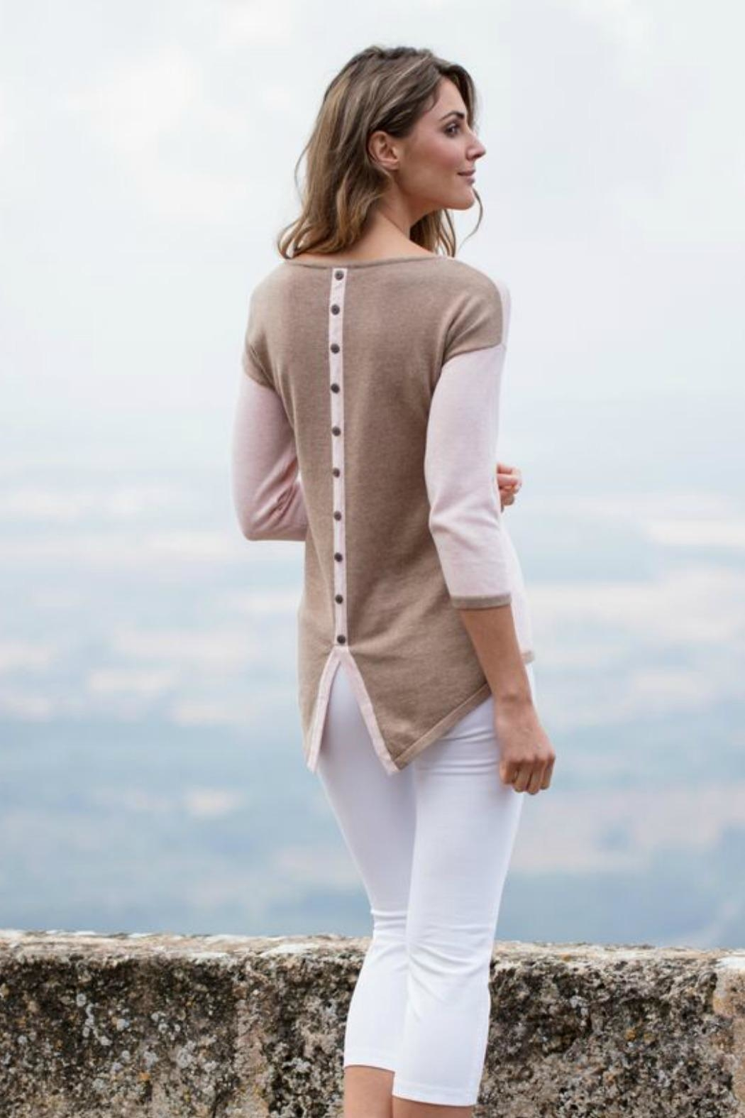 Marble Button Back Sweater - Main Image
