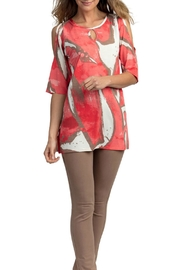 Marble Cold Shoulder Tunic - Product Mini Image