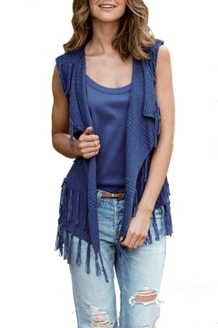 Marble Fringed Open Vest - Product List Image