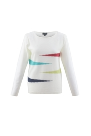 Marble Geometric Designed Sweater - Product Mini Image