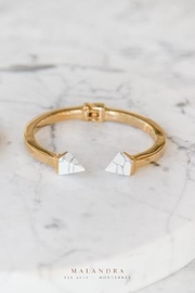 MALANDRA Jewelry Marble Gold-Plated Bracelets - Front cropped