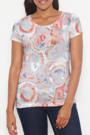 Whimsy Rose Marble Grey Short Sleeve Scoop Shirt - Front cropped
