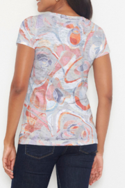 Whimsy Rose Marble Grey Short Sleeve Scoop Shirt - Front full body