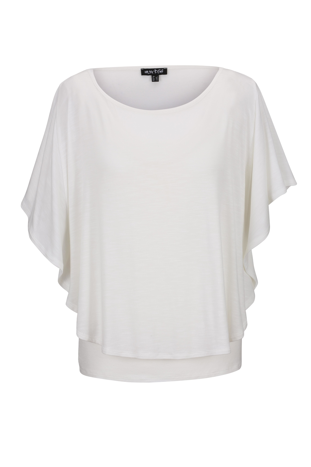 Marble Ivory Flutter-Sleeve Top - Main Image