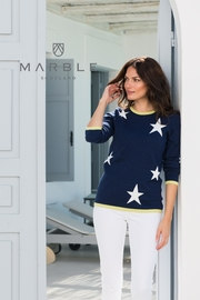 Marble Navy Star Sweater - Product Mini Image