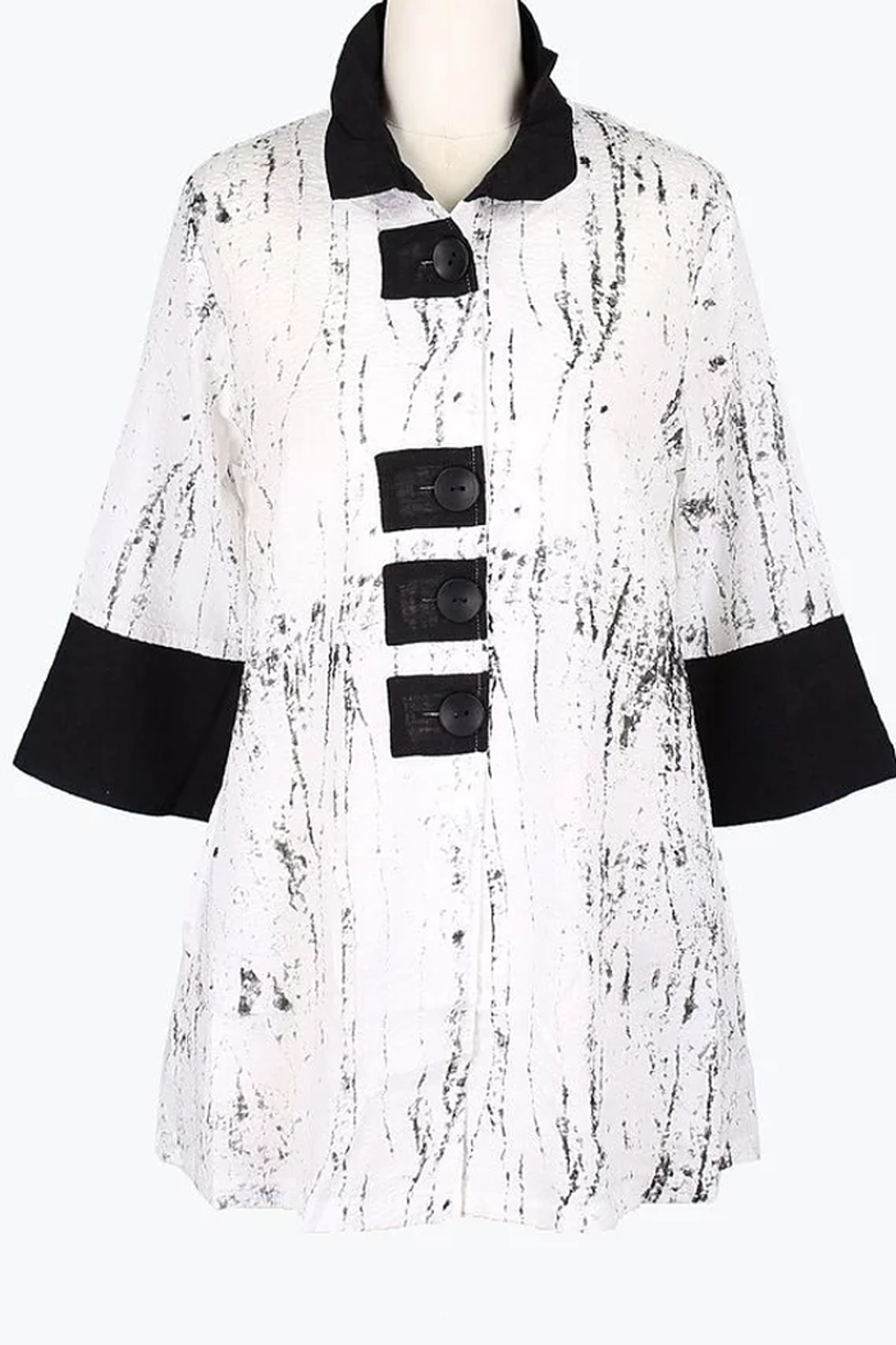 Damee Marble Patch Jacket - Front Cropped Image
