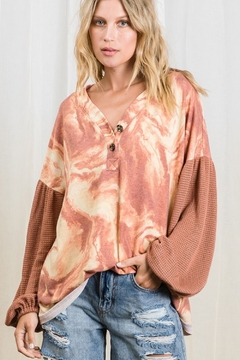 Ces Femme  Marble Print Casual Top - Product List Image