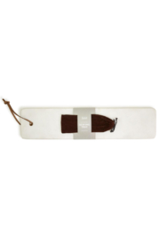 Two's Company Marble Serving Tray W/ Knife - Front full body