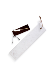 Two's Company Marble Serving Tray W/ Knife - Front cropped