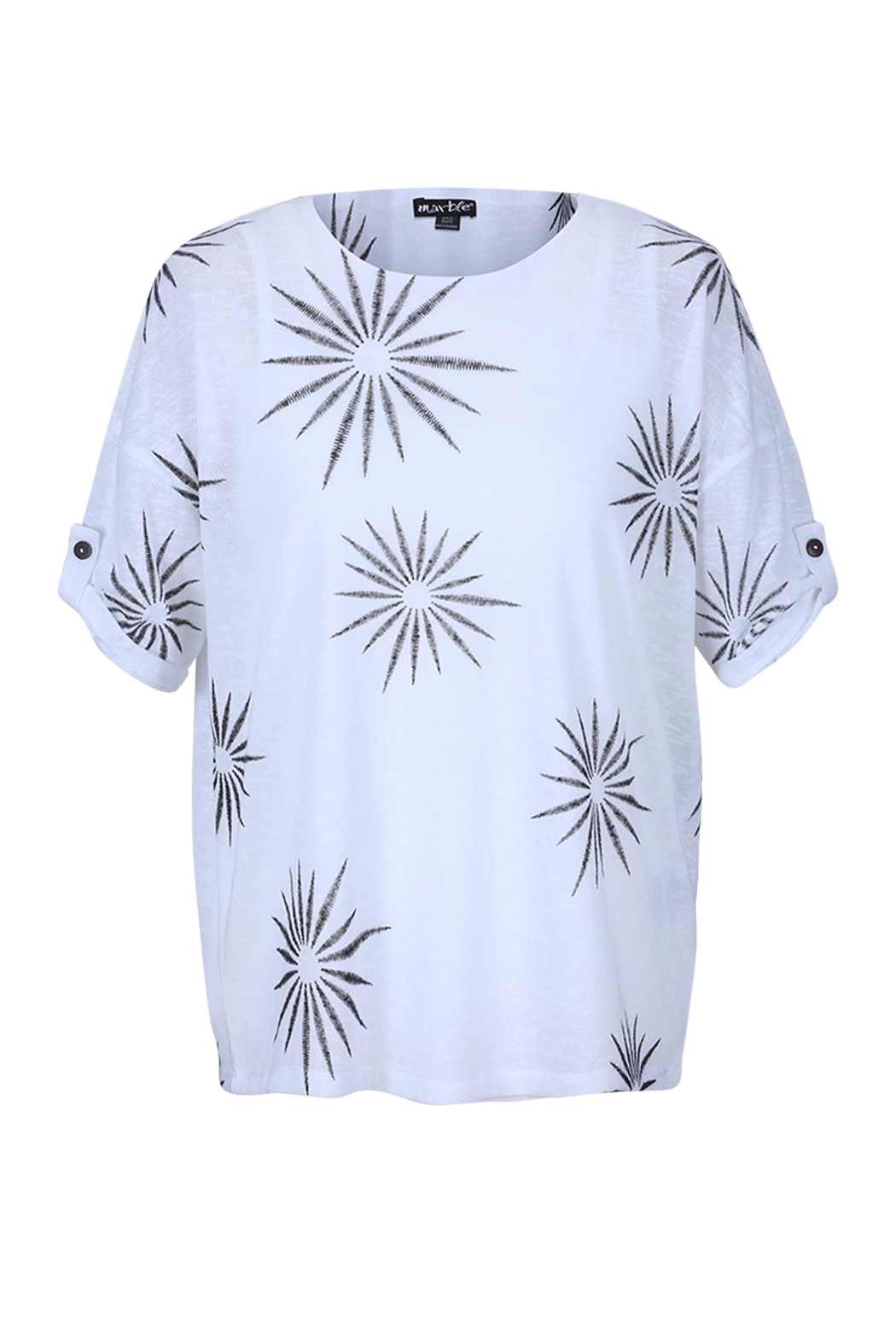 Marble Two-Piece Starburst Top - Main Image