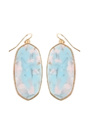 Riah Fashion Marble-Stone Drop Earring - Product Mini Image