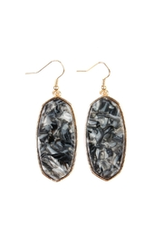 Riah Fashion Marble Stone Drop-Earrings - Product Mini Image