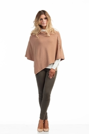 Marble Tan Poncho - Front cropped
