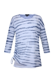 Marble White/denim Stripe - Front cropped