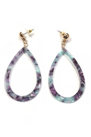Lets Accessorize Marbleized Acrylic Earrings - Product Mini Image
