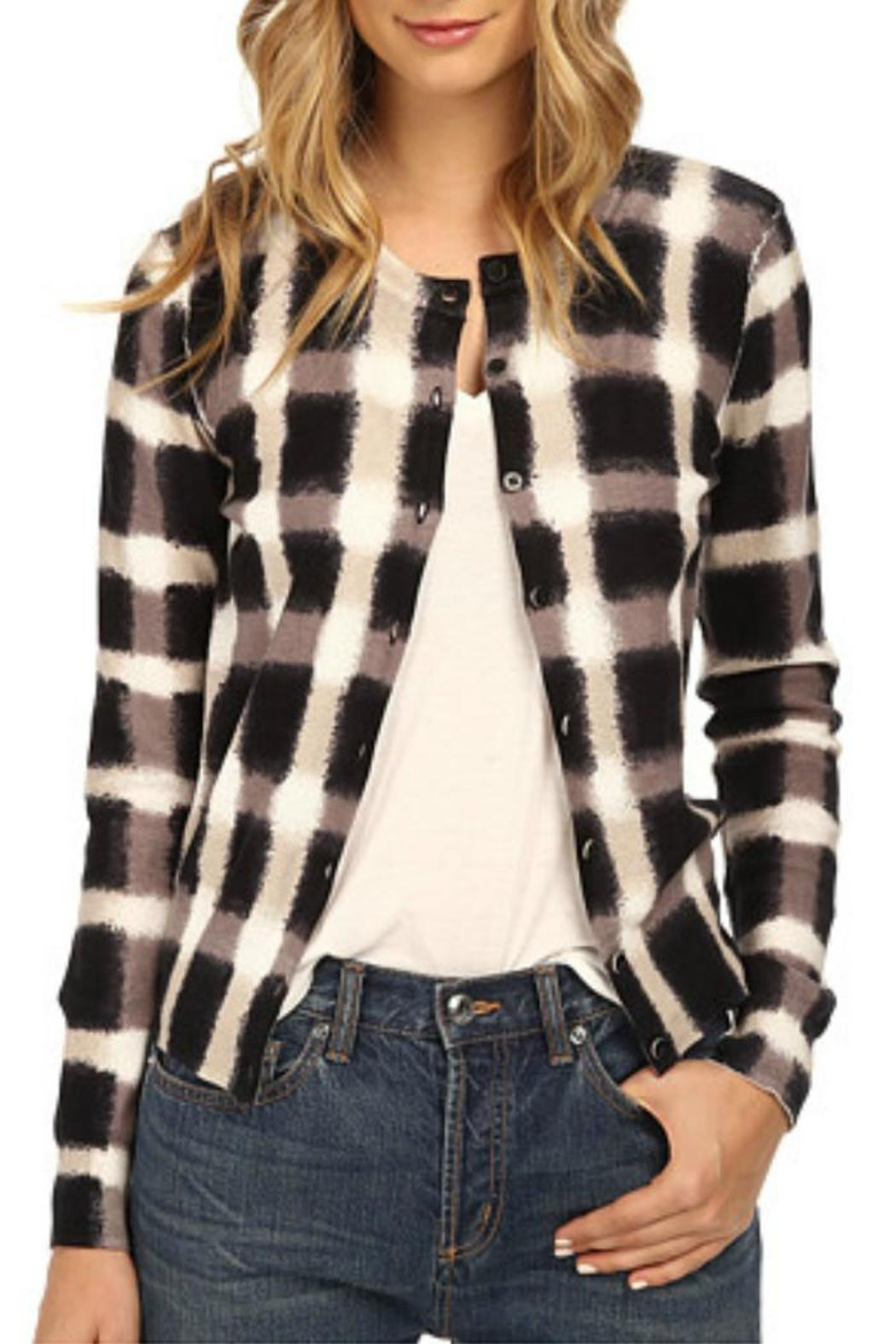 Marc By Marc Jacobs Blurred Plaid Cardigan - Main Image