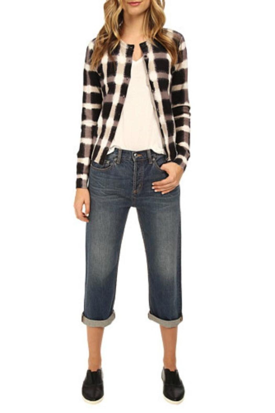 Marc By Marc Jacobs Blurred Plaid Cardigan - Back Cropped Image