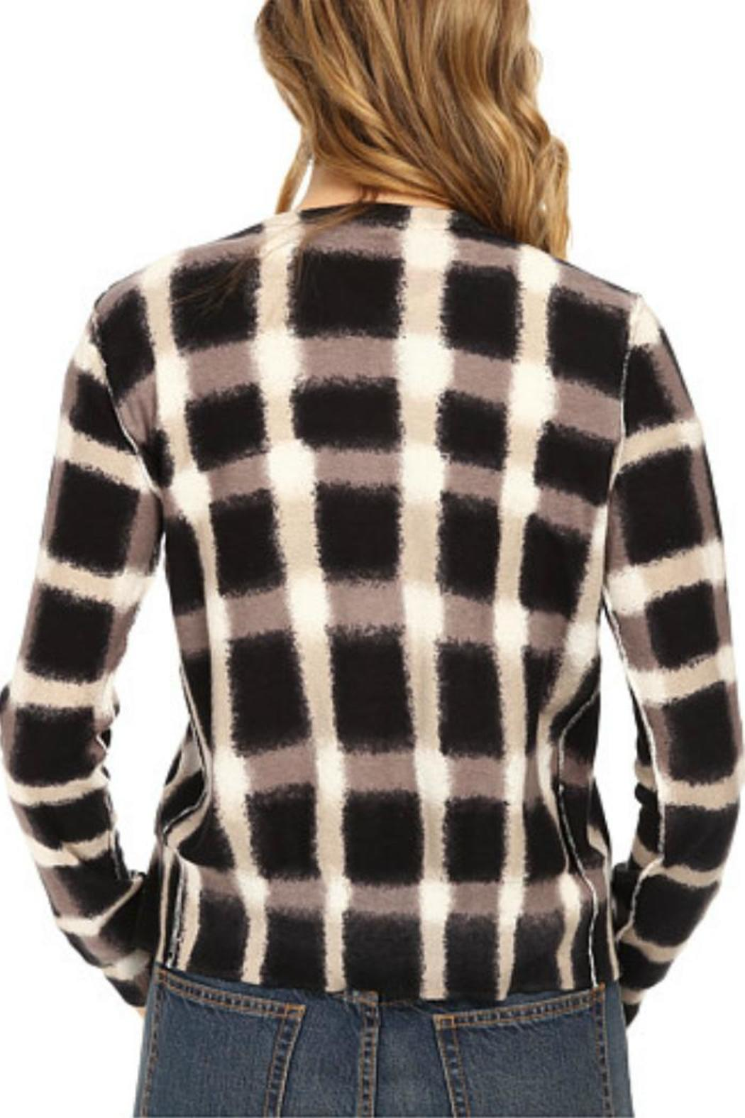Marc By Marc Jacobs Blurred Plaid Cardigan - Front Full Image