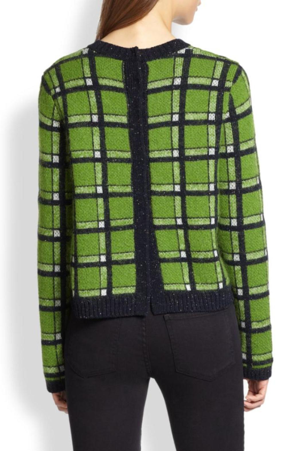 Marc By Marc Jacobs Prudence Snap Back Sweater - Front Full Image