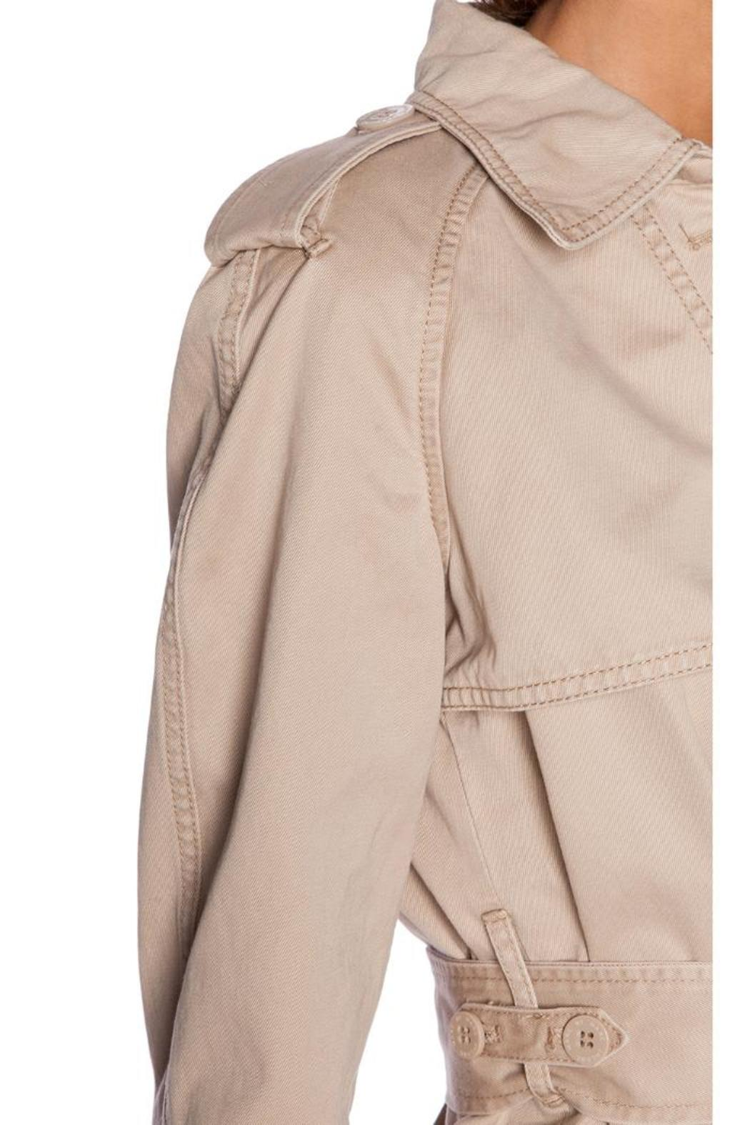 Marc By Marc Jacobs Slim Trench Coat - Back Cropped Image