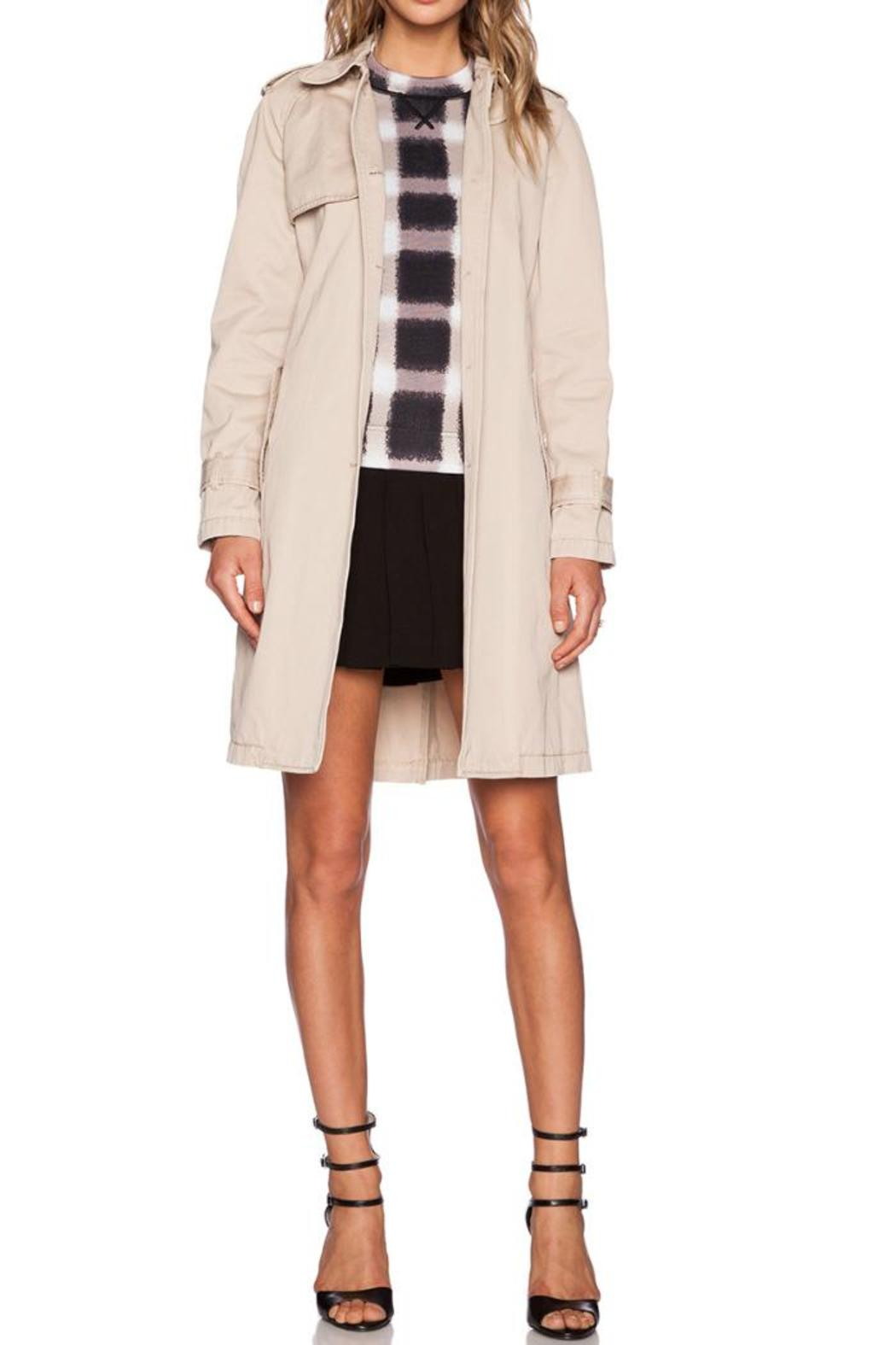Marc By Marc Jacobs Slim Trench Coat - Side Cropped Image