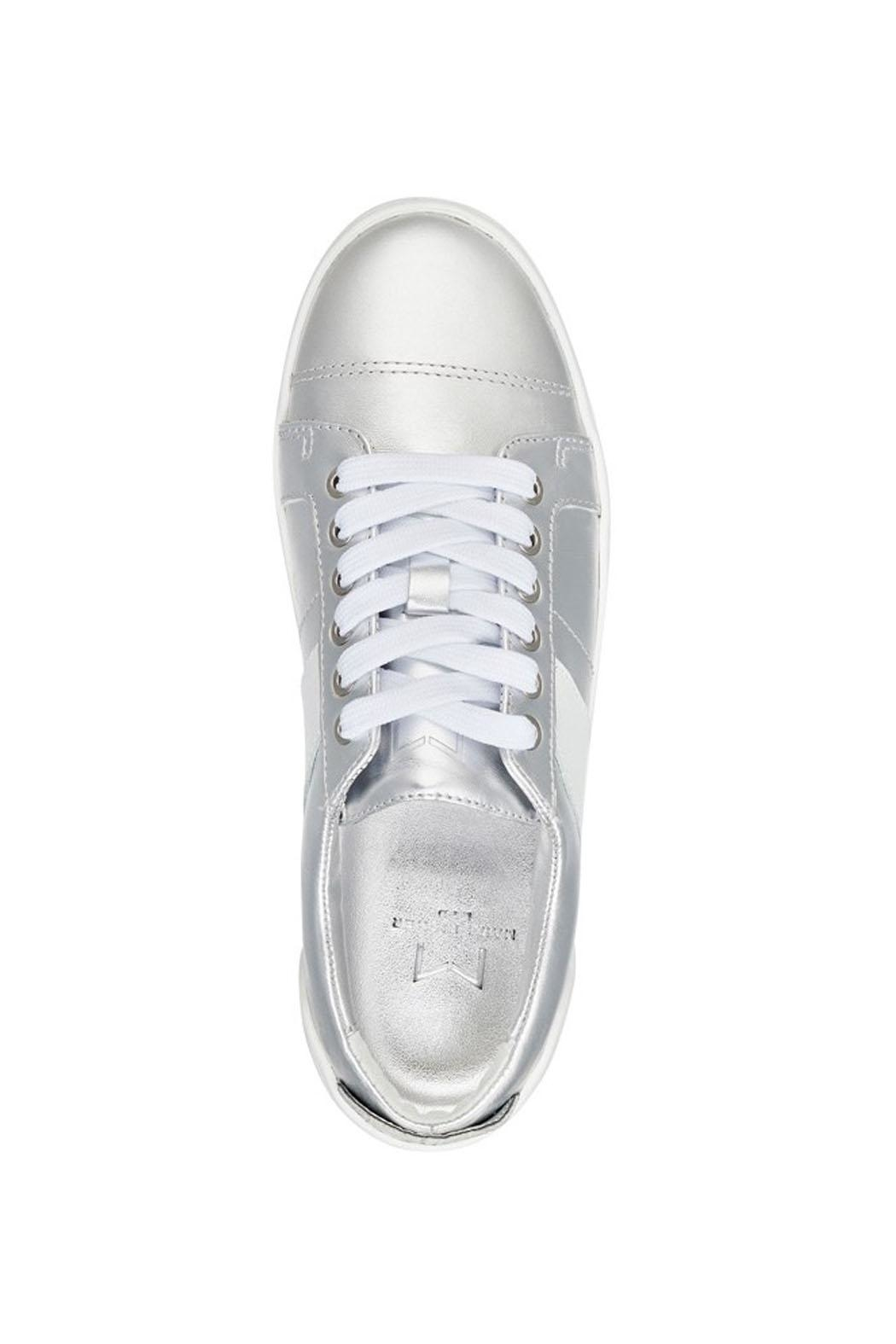 Marc Fisher LTD Candi White/silver Sneaker - Back Cropped Image