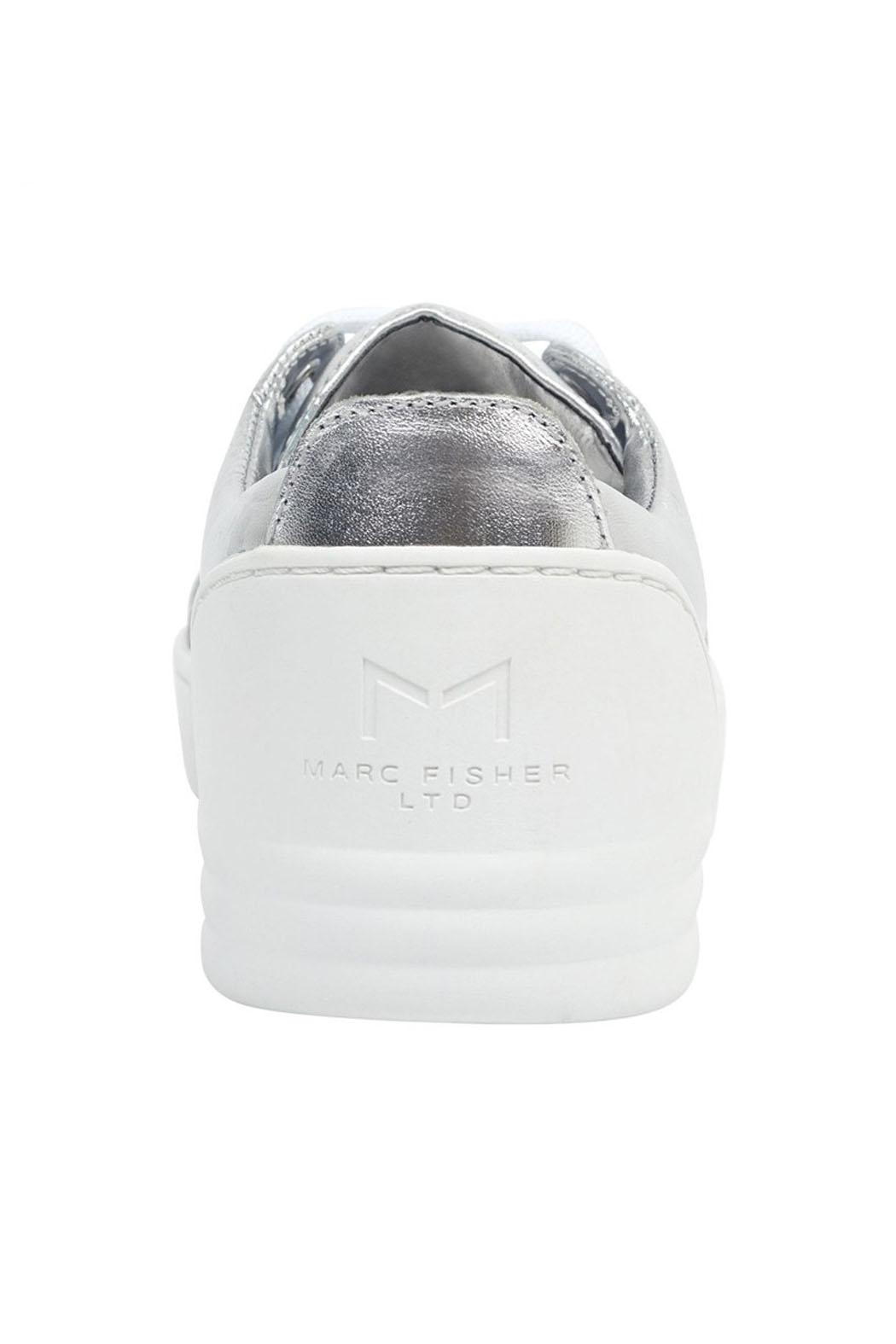 Marc Fisher LTD Candi White/silver Sneaker - Side Cropped Image
