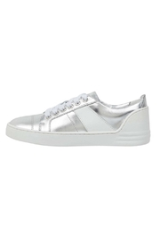 Marc Fisher LTD Candi White/silver Sneaker - Front cropped