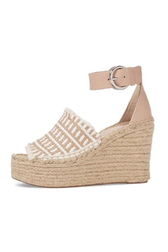 Shoptiques Product: Tan Straw Wedge